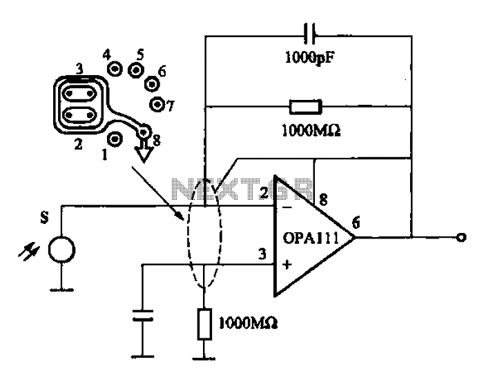 Coke Thermal infrared detection circuit OPA111 - schematic