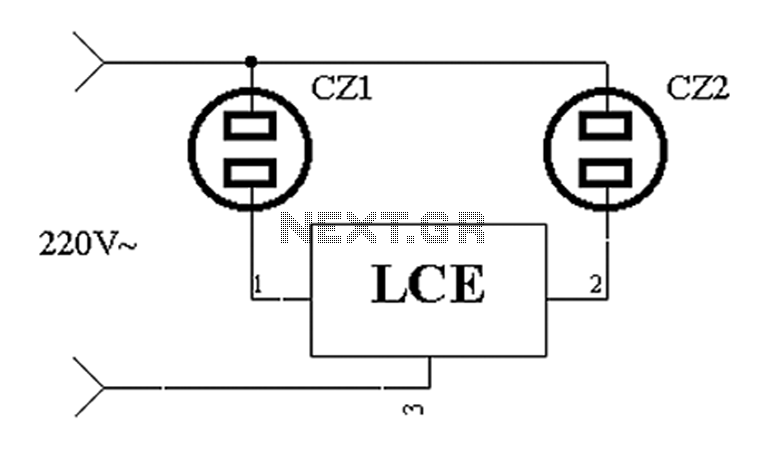 Cooling fan control socket synchronous circuit diagram - schematic