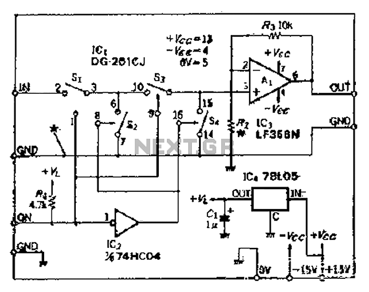 Cutting good performance signal switching circuit - schematic