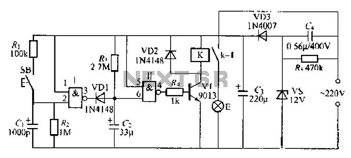 Digital delay circuit lamp circuit 2 - schematic