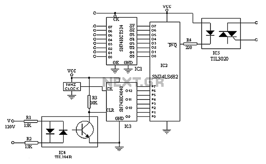 Digital triac circuit diagram - schematic