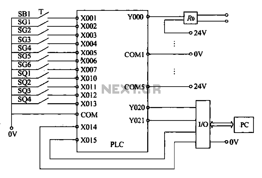Belajar Wiring Diagram Plc : Gt other circuits external wiring diagram of plc l