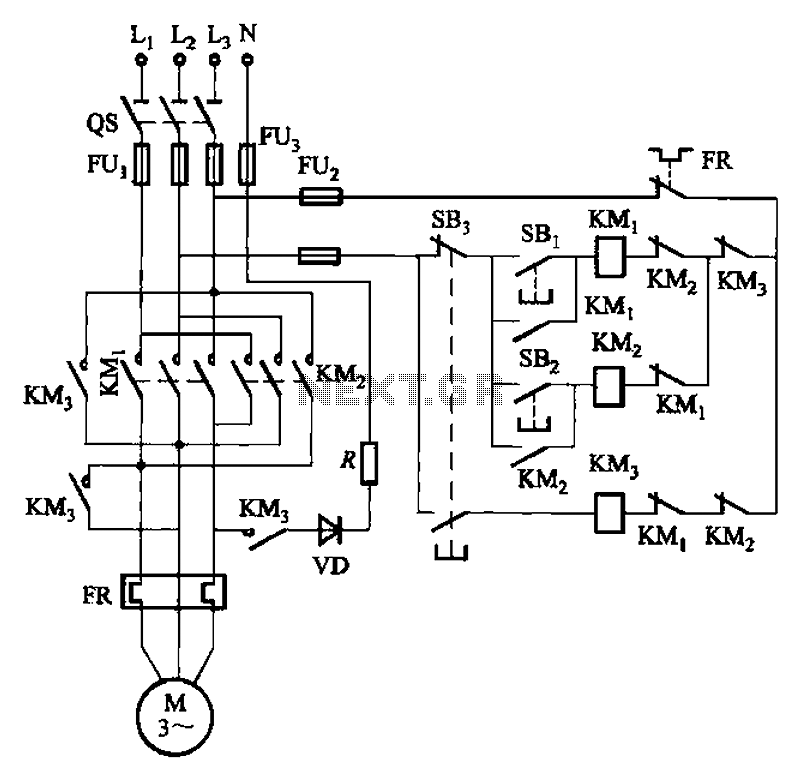 Forward and reverse operation of the dynamic braking circuit 2 - schematic