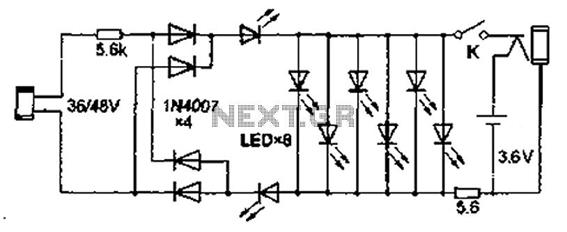 Free Homemade LED Lamp Circuit Diagram   Schematic