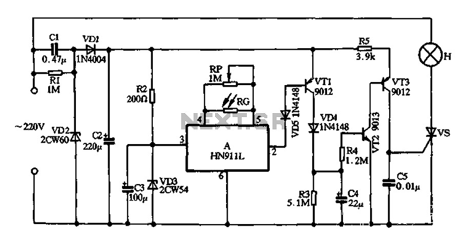 HN911L produced by induction lighting - schematic