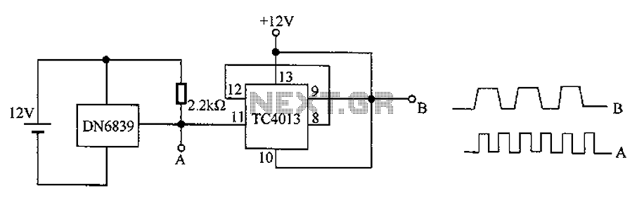 Hall IC element DN6839 dividing circuit diagram - schematic