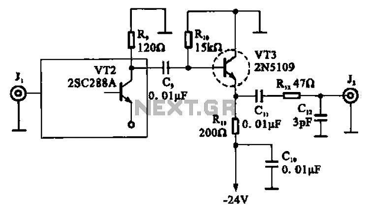 high-frequency signal output amplifier under other circuits