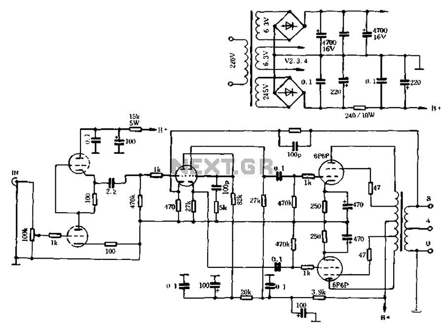 High-quality ultra-linear 10W tube amp - schematic