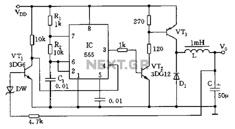 Inductive switching power supply circuit diagram - schematic