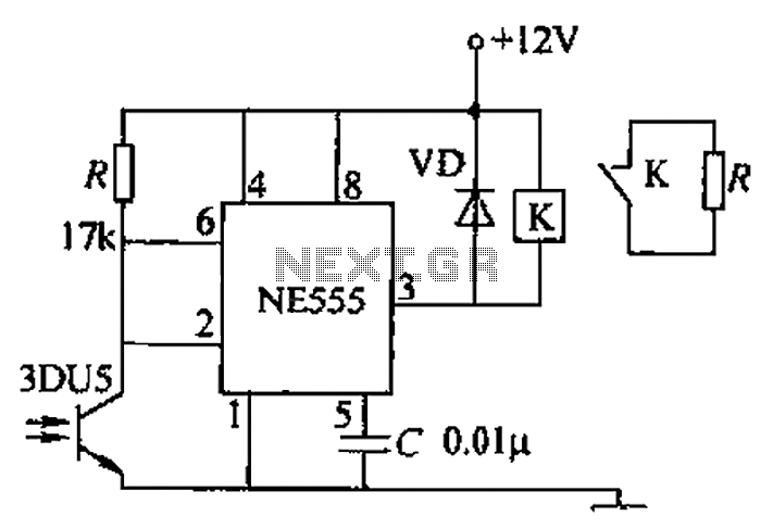 Infrared remote control relay circuit b - schematic