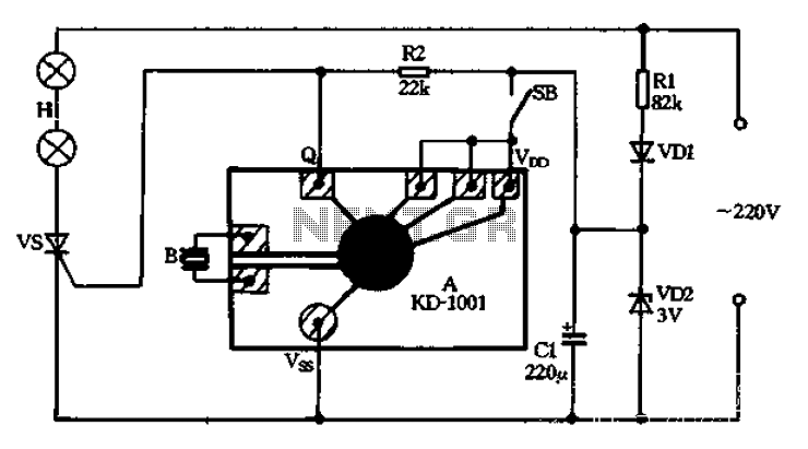 KD-1001 produced by lantern controller - schematic