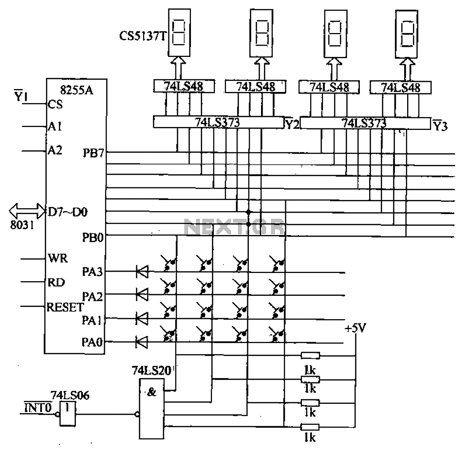 keyboard - display interface circuit