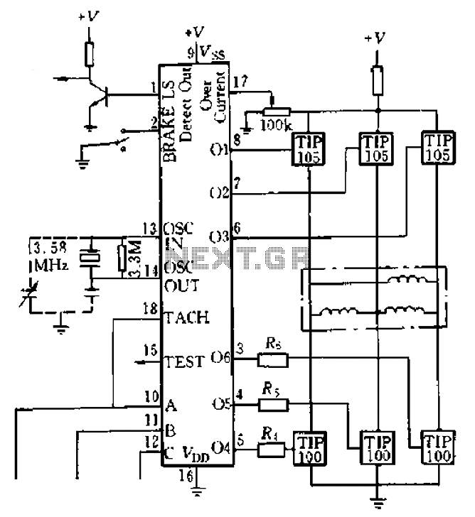 LS7263 Application Circuit Example - schematic