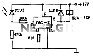 Light control relay circuit - schematic
