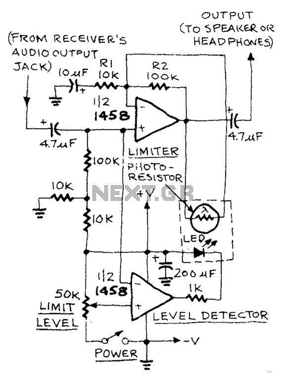 u0026gt  audio  u0026gt  low distortion audio limiter circuit diagram l58978
