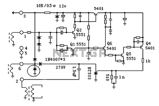 Motorcycle ignition circuit diagram - schematic