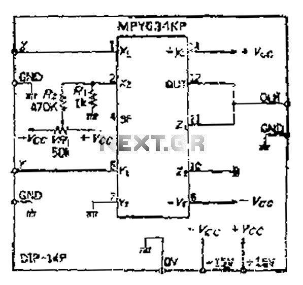 Multiplication circuit in broadband video band used - schematic