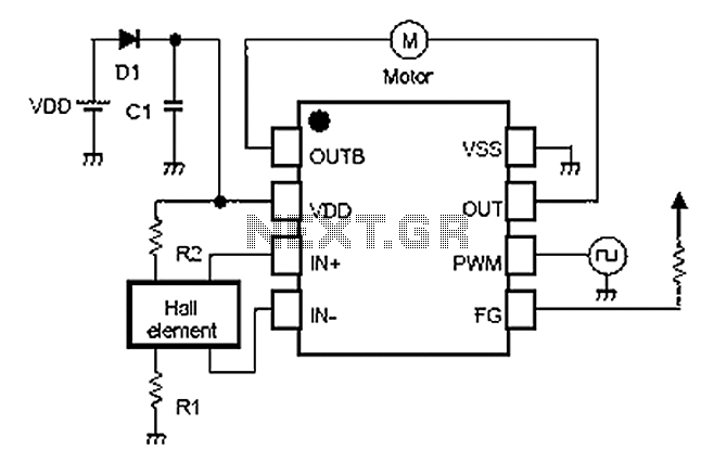 NJU7365 use brushless DC motor drive circuit diagram - schematic