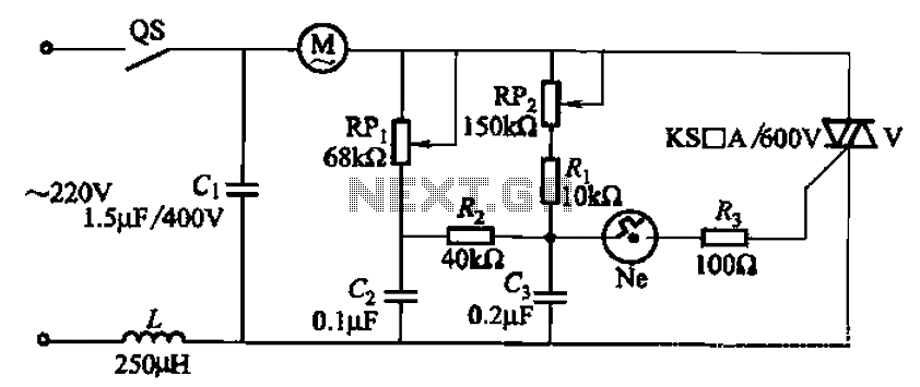 scr motor speed control circuit
