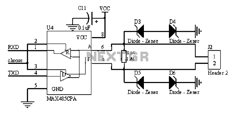 rs485 circuit diagram   21 wiring diagram images