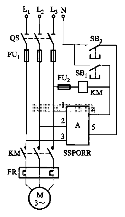 Phase solid state relay fault protection circuit b - schematic