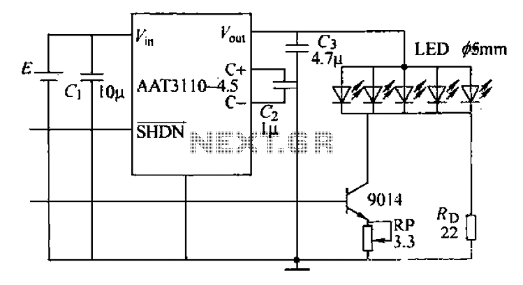 Phone camera flash control circuit - schematic