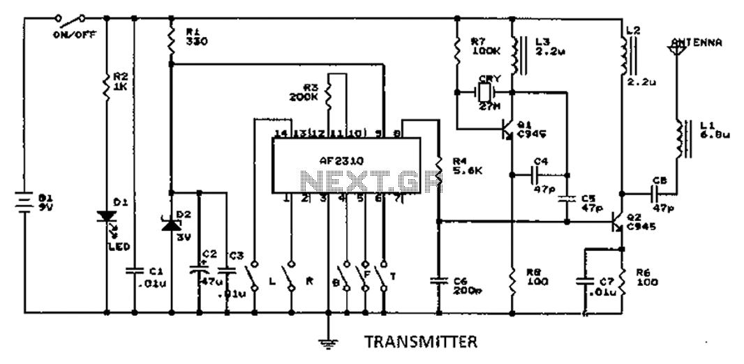 Radio Motor Controller Schematic - schematic