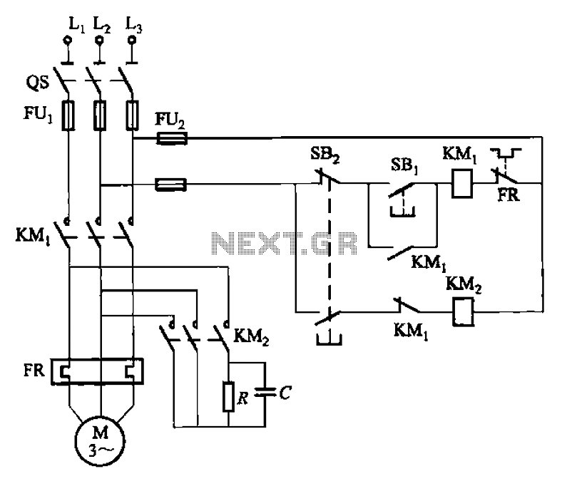 Self-excitation - one short brake circuit - schematic