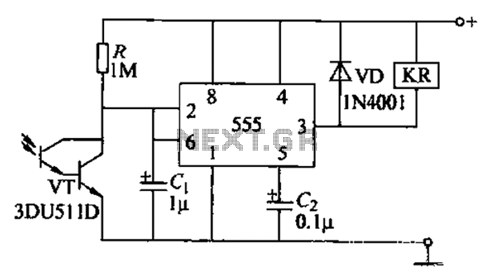 sensitive light control switch circuit under light laser led circuits
