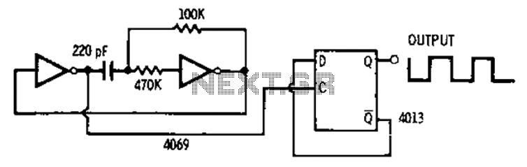 Symmetrical division circuit diagram