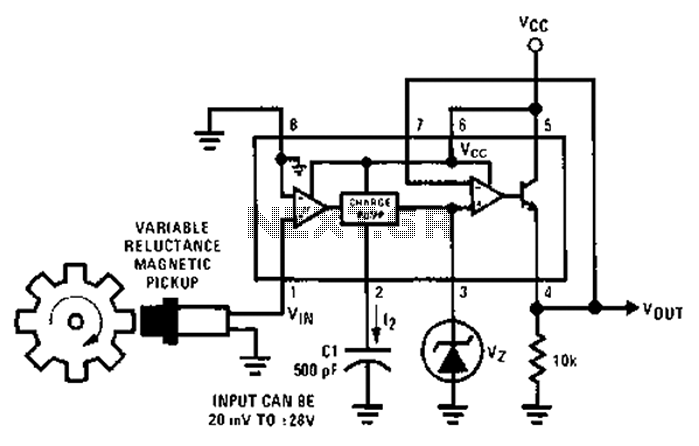 tachometer circuit diagram of a multiplier under meter counter circuits