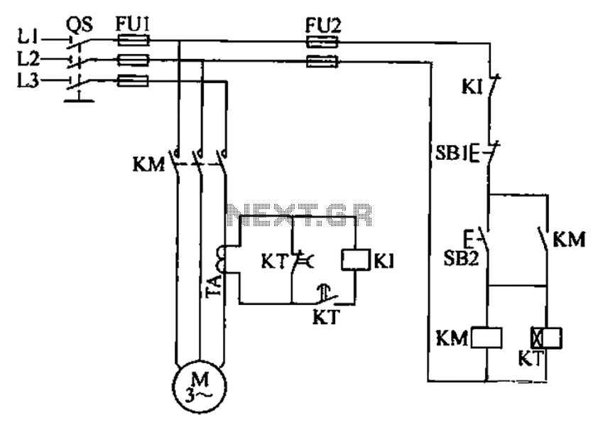 automations > motor control circuits > Three phase motor overcurrent ...