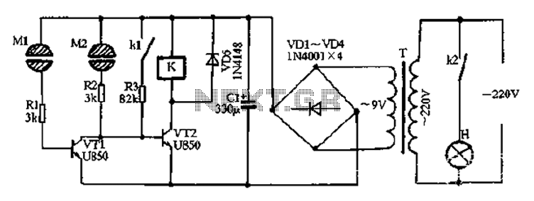 Two-way touch switch 4 - schematic