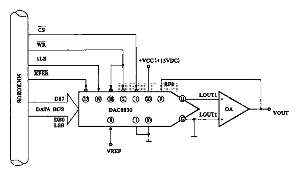 Typical DA conversion circuit 8 - schematic