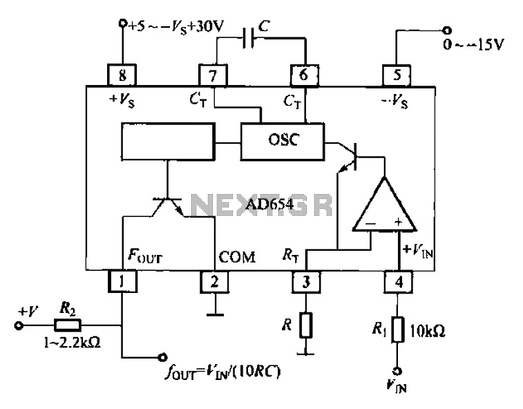 Voltage - frequency conversion circuit