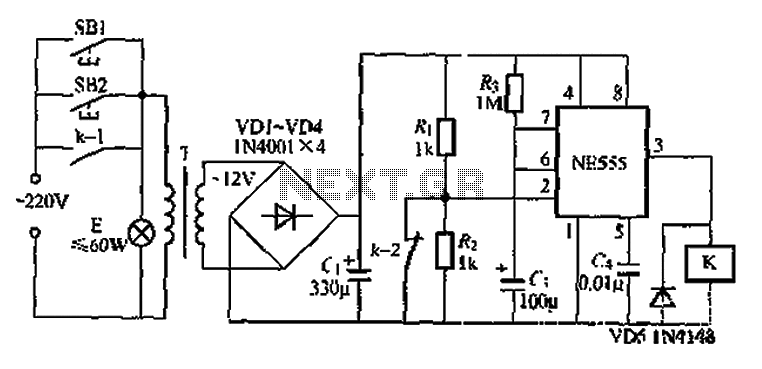 When using the lamp base circuit delay circuit 2 - schematic