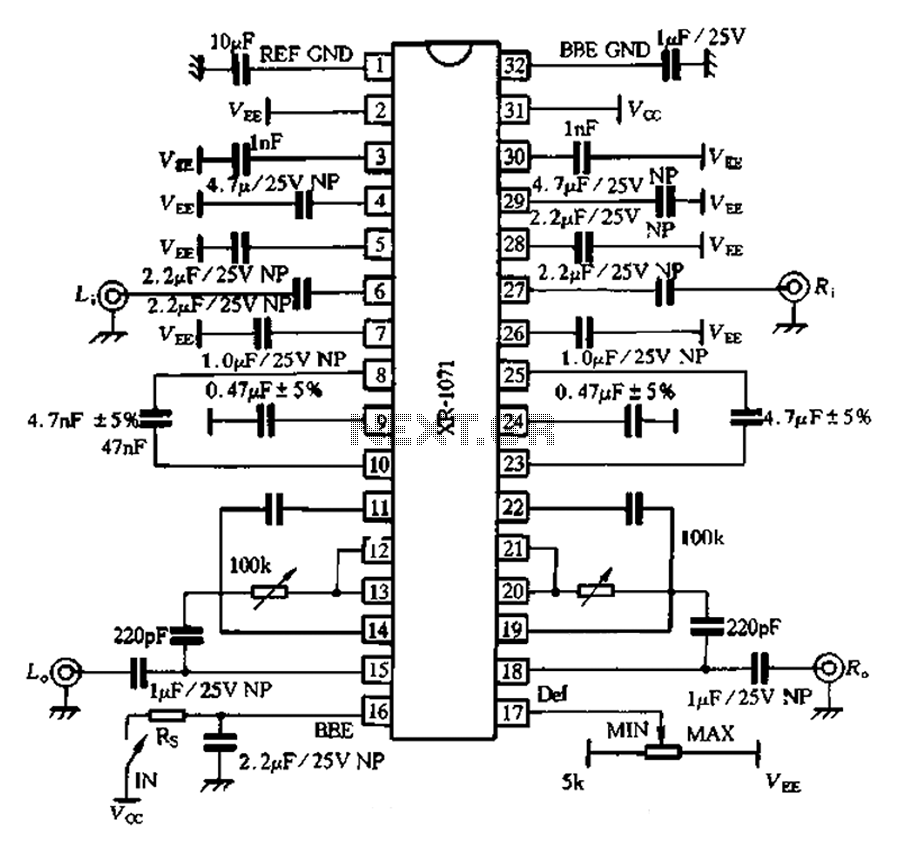 XR1071 application circuit - schematic