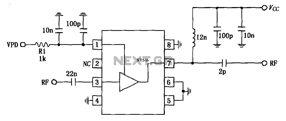 circuit diagram of low noise amplifier