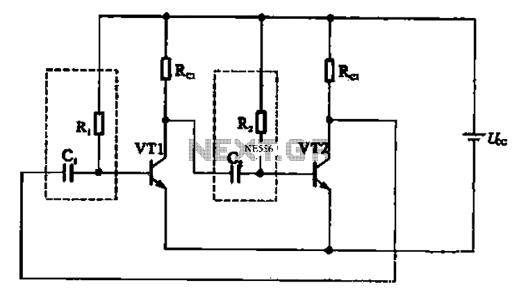 astable multivibrator under astable oscillator circuits