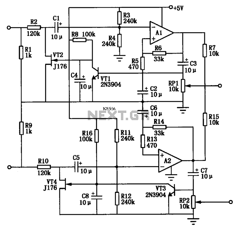 Audio AGC amplifier circuit