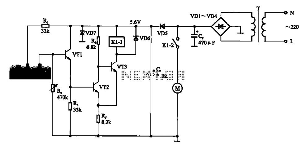 Automatic sprinkler control circuit