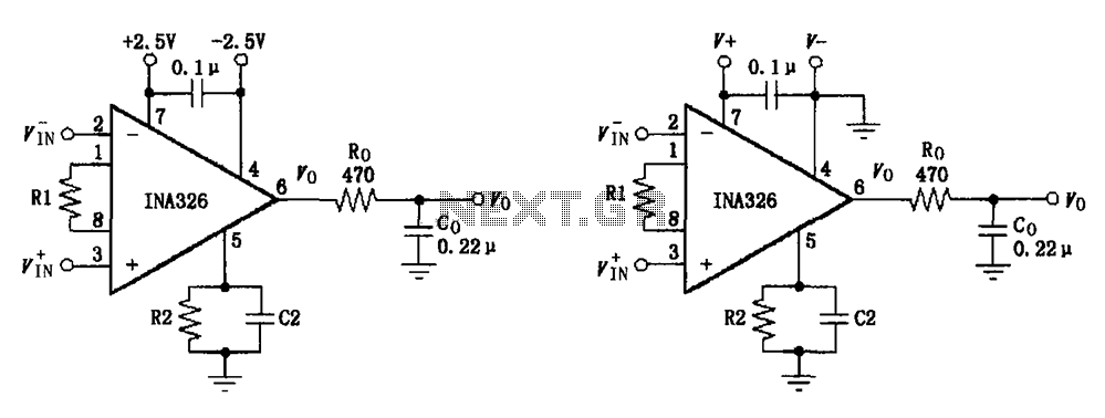 basic connection circuit diagram ina326 327 signals and power under other circuits
