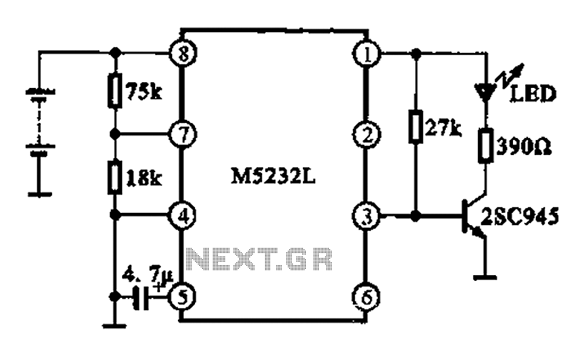 battery voltage indication circuit under other circuits