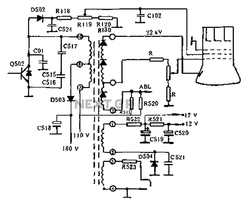 Tv Flyback Transformer Circuit Diagram