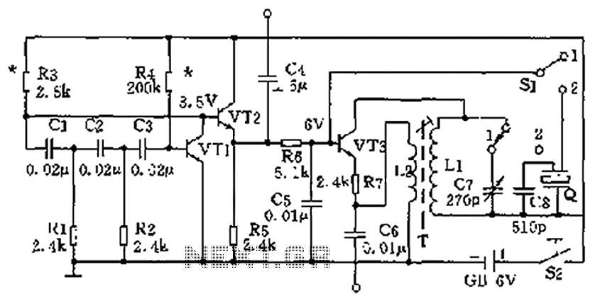high and low frequency signal generator circuit diagram under oscillator circuits
