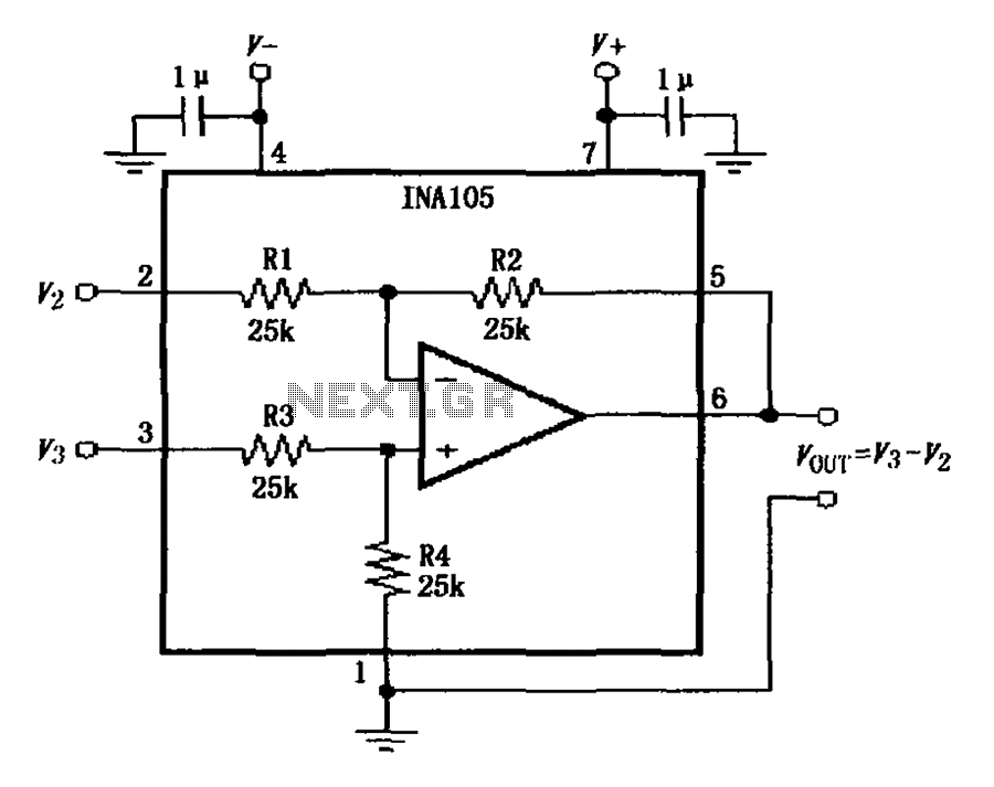 u0026gt  other circuits  u0026gt  ina105 circuit diagram of the basic