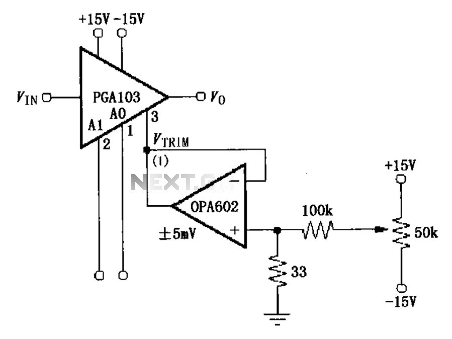 u0026gt  other circuits  u0026gt  pga103 offset voltage correction circuit diagrams l59202