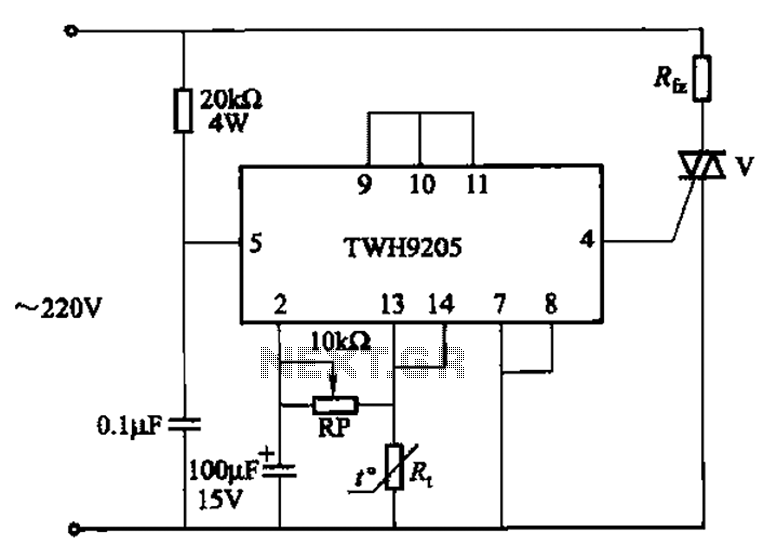 twh9205 by the integrated circuit consisting of a temperature control circuit automatically