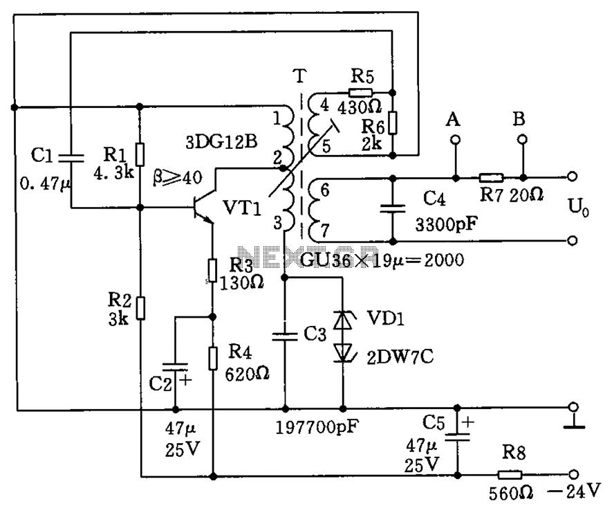 1.8kHz signal generator circuit - schematic