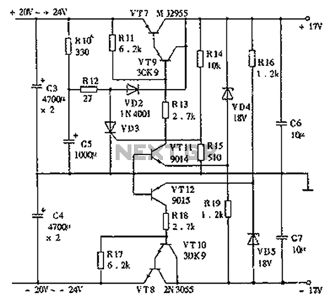 15W Pure Class A amplifier circuit diagram - schematic